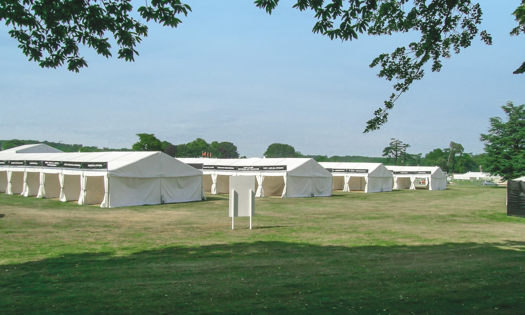 Trade stand marquees